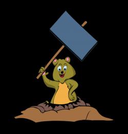 clip art groundhog day burrow rodent signboard - Clip Art ...