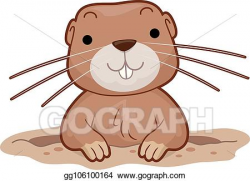 Vector Illustration - Gopher hole illustration. EPS Clipart ...