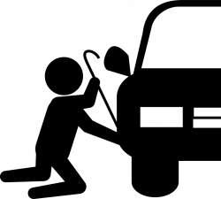 Robber Silhouette Trying To Steal Car Part Svg Png Icon Free ...