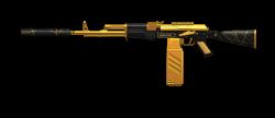 Firearm AK-47 Clip art - golden 1200*520 transprent Png Free ...