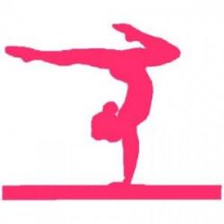 SIMPLE SILHOUETTE GYMNASTICS GIRL | gymnastics meet treat ...