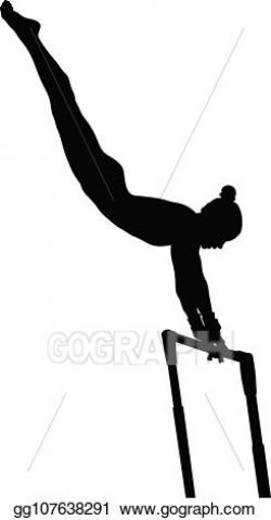 Vector Art - Uneven bars exercise woman gymnast. Clipart ...