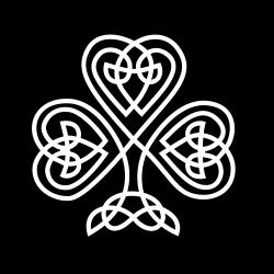 shamrock | Celtic Shamrock Black White Line Flower Art Coloring ...
