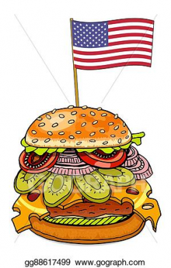 Stock Illustration - Hamburger with cheese. Clipart ...