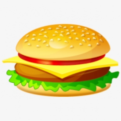 Veggie Burger Clipart Plain Hamburger - Burger Clip Art Png ...