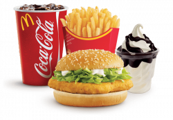 McDonald's McChicken Menu With Small Sundae transparent PNG - StickPNG