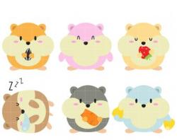 Hamster clipart | Etsy