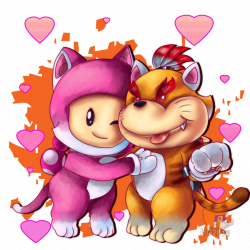 Meowser Jr and Cat Toadette by HG-The-Hamster on DeviantArt