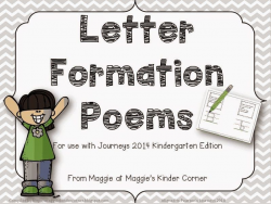 Letter Formation Poems for use with Journeys handwriting ...