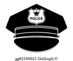Police Cap Clip Art - Royalty Free - GoGraph