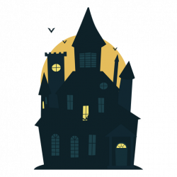 Scary halloween haunted house - Transparent PNG & SVG vector