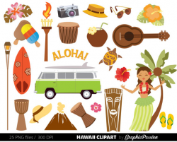 Hawaiian Luau Party clip art Luau clipart Luau clip art