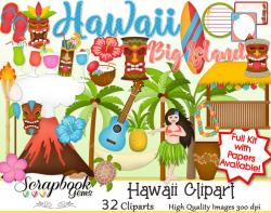HAWAII Clipart   Scrapbook Gems