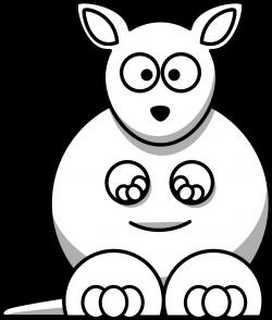 Kangaroo Black White Line   Clipart Panda - Free Clipart Images