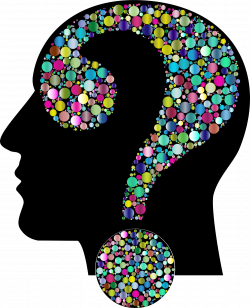Clipart - Colorful Question Head Circles 12