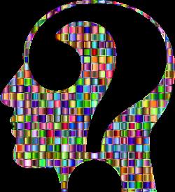 Clipart - Chromatic Mosaic Question Head