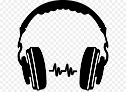 Headphones Silhouette Icon - Headphones Png Clipart png download ...