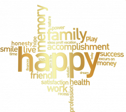 Clipart - Happy Family Word Cluster remix