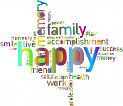 Clipart - Prismatic Happy Family Word Cloud 3 No Background
