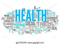 Stock Illustration - Word cloud health. Clipart ...