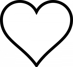 heart stencil | Plain Heart clip art - vector clip art online ...
