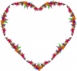 Clipart - Abstract Flowers Heart