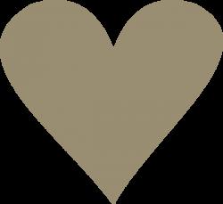 Tan Heart Clip Art at Clker.com - vector clip art online, royalty ...