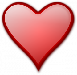Shiny Red Heart Clip Art at Clker.com - vector clip art online ...