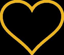 Gold Heart Clip Art at Clker.com - vector clip art online, royalty ...