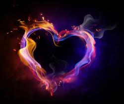 Graphic design Heart Wallpaper - Cartoon color heart-shaped smoke ...