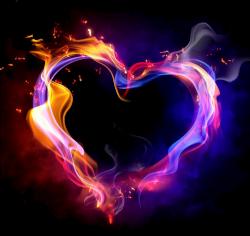 fire smoke effects heart sticker...