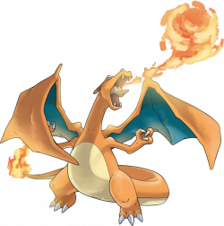 Pokédex entry for #6 Charizard containing stats, moves learned ...