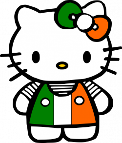 Crafting with Meek: Hello Kitty St. Patricks Day SVG   Hello Kitty ...