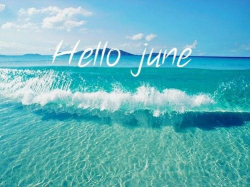 Hello June i love you | We Heart It | june, sea, and summer ...