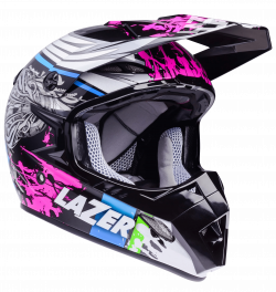 Motorcycle Helmet Lazer MX8 Flash Pure Glass Black transparent PNG ...