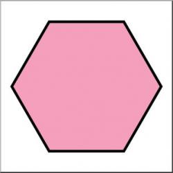 Clip Art: Shapes: Hexagon Color Unlabeled I abcteach.com | abcteach