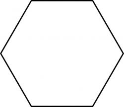 Large Hexagon for Pattern Block Set | ClipArt ETC