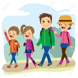 Family Hiking Clipart | Free download best Family Hiking ...