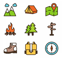 Hiking Icons - 143 free vector icons