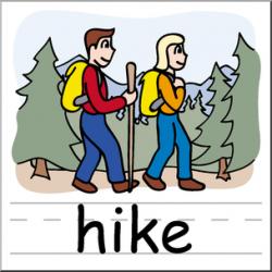 Clip Art: Basic Words: Hike Color Labeled I abcteach.com   abcteach