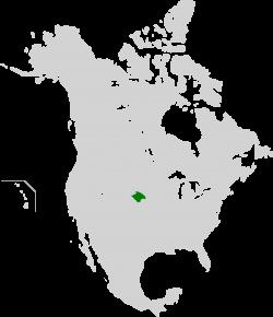 Nebraska location on us map