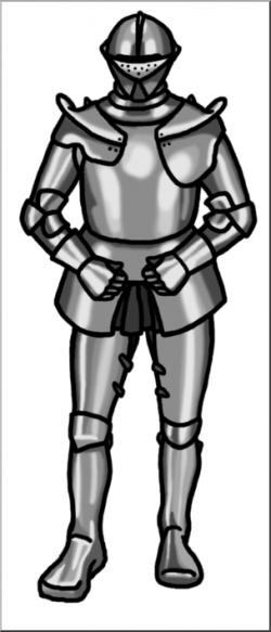 Clip Art: Medieval History: Knight Grayscale I abcteach.com ...
