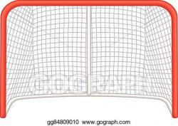 Vector Illustration - Hockey goalie net. EPS Clipart ...