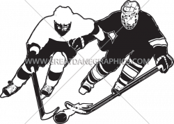 Funky Hockey | Production Ready Artwork for T-Shirt Printing