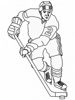 Hockey Player Drawing at GetDrawings.com | Free for personal use ...