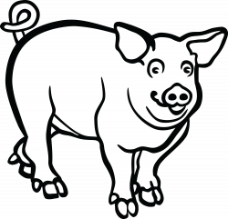 28+ Collection of Pig Clipart Black And White Png   High quality ...