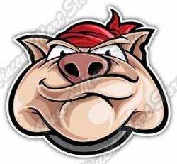 Details about Cool Pig Boar Hog Face Bandana Funny Car Bumper Vinyl Sticker  Decal 5