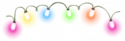 Christmas Tree Light Bulb Clipart Clipground Lights String Of Free ...