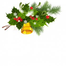 Transparent Christmas Bell Mistletoe and Snowflakes PNG Clipart ...