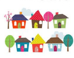 34 best Houses Clipart images on Pinterest   Homes, House beautiful ...